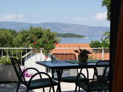 Photo for One bedroom apartment with terrace and sea view Jelsa (Hvar)