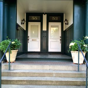 Entrance to townhouse.