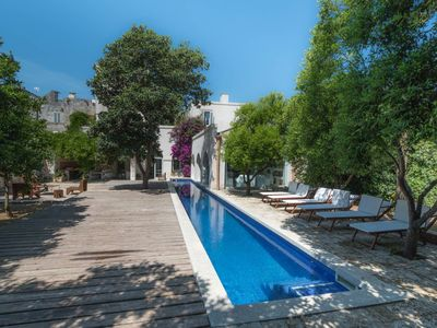 Photo for Masseria ideal for families and groups with a pool and garden near Otranto