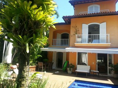 Photo for HOUSE ON THE SIDE OF THE BEACH WITH 5 SUITES, POOL, CABLE TV AND WIFI.