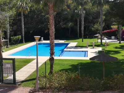 Photo for Spacious 3 double bedrooms apartment with sunny private terrace & swimming pool