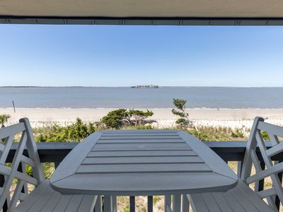 Photo for Beachfront Condo with Unobstructed Bay Views and Amazing Sunsets from Your Private Balcony