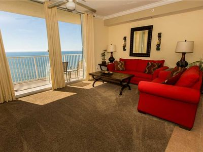 Photo for 1BR - Free Beach Chair Service - Gulf Front View