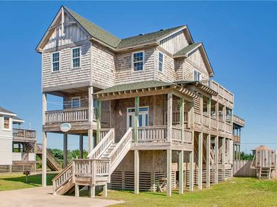 Photo for Oceanview, Rodanthe-Short Stroll to Beach! Pool, Hot Tub, Game Rm, Dog-Friendly