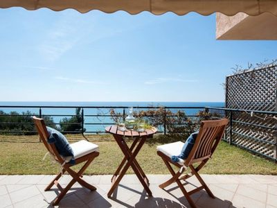 Photo for 1BR Suite | Glyfada Beach Sea View Apartments