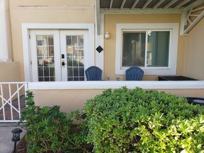 Photo for Beautiful Ground Floor Ocean Front condo in Cape Canaveral on a  Private Beach.