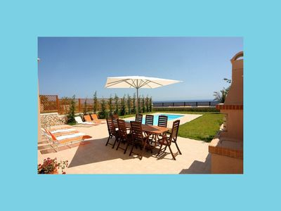 Photo for Secluded Beach 300 m Private Pool, Tennis Court.
