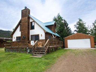 Photo for Our Red River Cabin - Private Home , Wrap Around Porch, WIFI, Washer/Dryer, Trailer Parking
