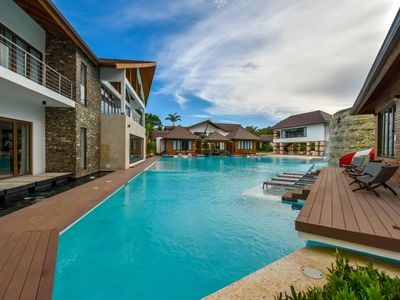 Photo for Epic Estate for Large Groups, Huge Pool w Grotto, In Room Jacuzzi, Fully Staffed, AC, WIFI