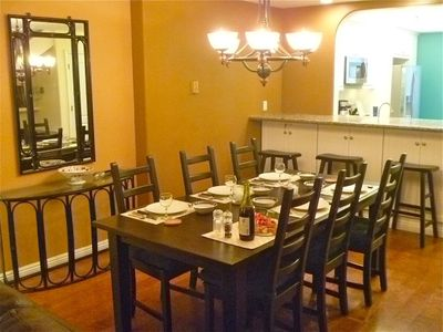 Spacious, comfortable dining area