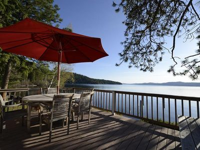 Photo for Coeur D'Alene Waterfront Cabin with Beautiful Panoramic Views