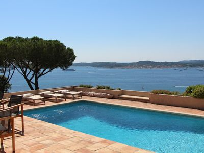 Photo for BEAUTIFUL RENOVATED VILLA IN ST TROPEZ PANORAMIC SEAVIEW, SWIMINGPOOL