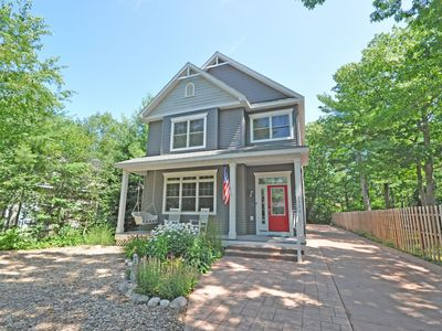 Photo for Downtown Glen Arbor, Half Block from Lake Michigan, 4BR/Den/4BA/Acc 13!