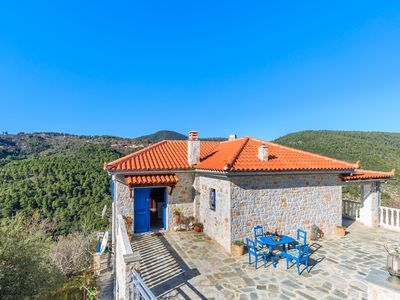 Photo for LEVANDA VILLA, is set amidst lush and peaceful countryside with stunning views!