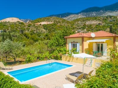 Photo for Villa Russa Alekos: Large Private Pool, Walk to Beach, Sea Views, WiFi, Car Not Required