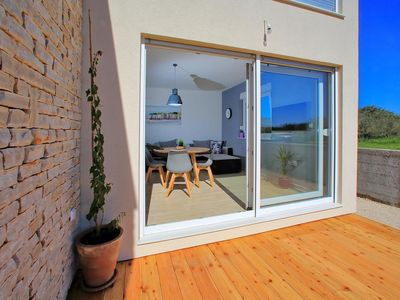 Photo for One bedroom apartment with terrace Bibinje, Zadar (A-16320-a)