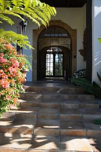 Entry through Vaulted Breezeway