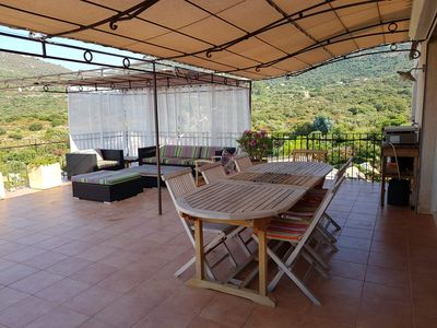 Photo for Air-conditioned villa of 110m² for 8 people with sea and mountain views - swimming pool.