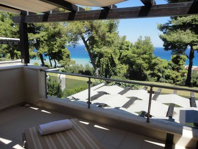 Photo for Villa inside a pine area with amazing sea view next to a wonderful beach