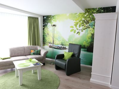 Photo for Green world - refreshing, modern apartment in the midst of the spa area