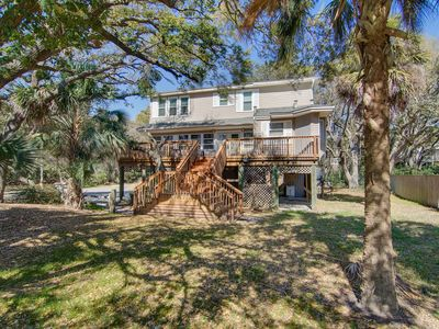 Photo for Charming home with large yard and deck - across the street from beach access!
