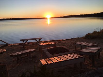 Chill around the fire pit watching awesome sunsets!!