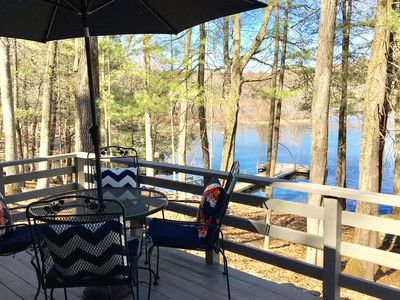 Lake Front Getaway, amazing views, large deck, private dock, great for families