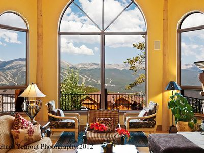 Photo for AMAZING VILLA W/MT VIEWS, 3 FIREPLACES, 4 KING ENSUITE'S, HOT TUB, MEDIA  ROOM.