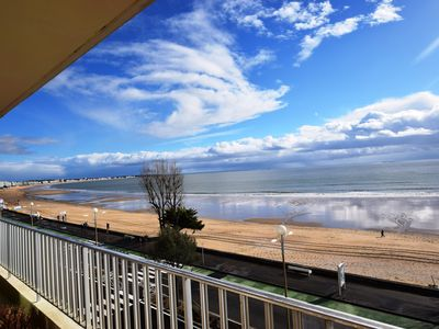Photo for Beachfront apartment between De Gaulle and Casino