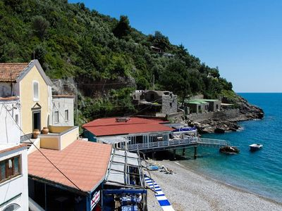 """Photo for Apartment by the Sea """"croaker"""" on the beach of Nerano on two levels"""