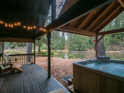 Photo for Serendipity on the Wenatchee River, Private Hot Tub , Wi-Fi and Cable TV