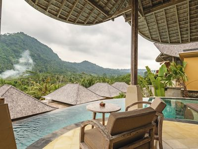 Photo for A resort that has a 360° panoramic hillside and surrounded by rice fields