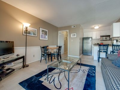 Photo for Beachfront condo w/ a full kitchen, private balcony, shared pools