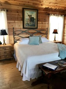 Photo for Fredericksburg Texas private cabin with hot tub
