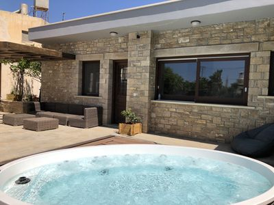 Photo for Three bedroom stone villa with spa, 100 meters to beach
