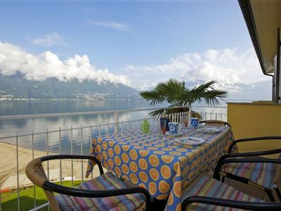 Photo for Tastefully furnished 2½-room apartment with sunbathing terrace and fantastic sea view