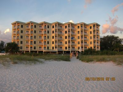 Sunset Vistas Beach Resort viewed from the Gulf of Mexico