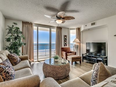 Photo for Crescent Shores 308, 3 Bedroom Beachfront Condo, Hot Tub and Free Wi-Fi!