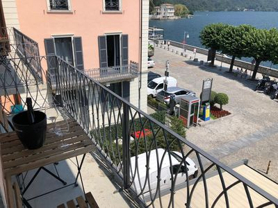 Photo for Carola A tastefully furnished apartment lakefront in Mergozzo