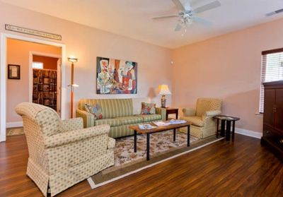 Open den and dining area...perfect place for gathering & enjoying your friends!