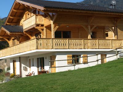 Photo for The luxurious La Gentiane chalet and four minutes from the village of Saint Jean dAulps.