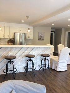 Kitchen with island seating for 4 guests