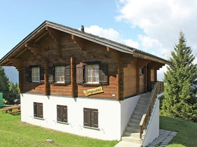 Photo for Detached chalet at the alm in the car-free village of Rosswald. outstanding view