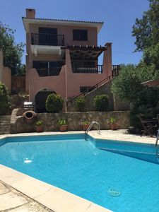 Photo for Villa Hadley - Sleeps 8 in picturesque Tala village, WiFi, BBQ and private pool.