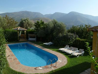 Photo for La Adelfa: secluded 3 bedroom villa, private pool, close to town, sleeps 6, WiFi