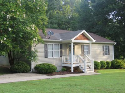 Spacious corner lot with two driveways.