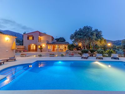 Photo for LA FONT (CLAVELL DAIRE) - Spectacular villa with private pool at the foot of the mountain.