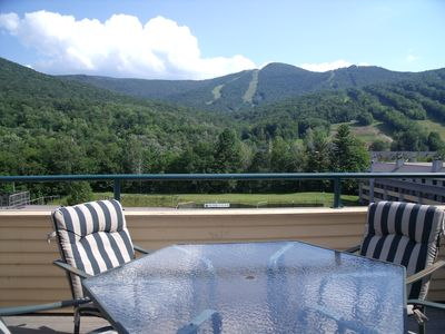 Deck and view of Loon Mountain