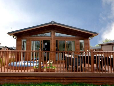 Photo for Malton Grange - Victory Greenland Luxury Lodge with hot tub. Rural views.