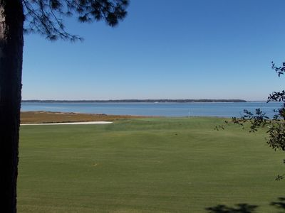 View of 18th Green at Harbour Town Golf Course taken from deck of this property.